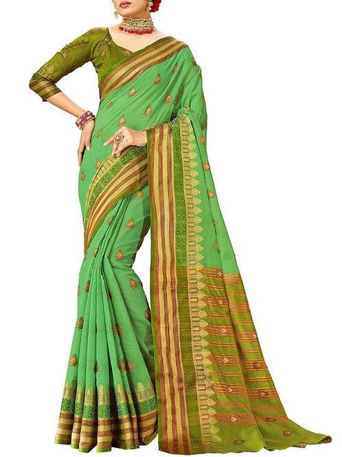 Astonishing Medium sea green Color Trendy Sarees