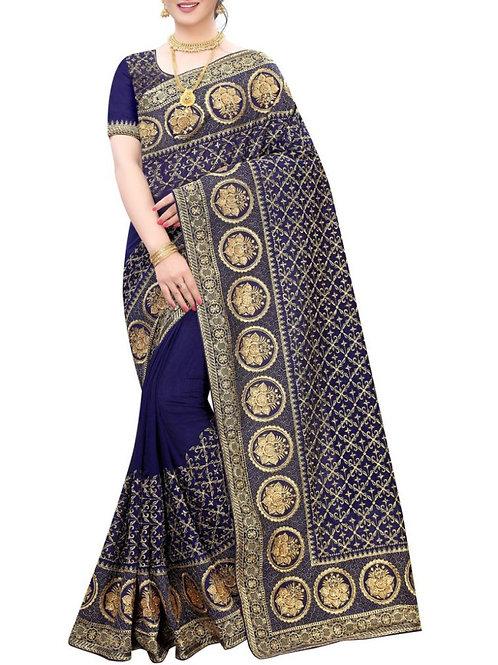 Alluring Navy Blue Wedding Sarees Online