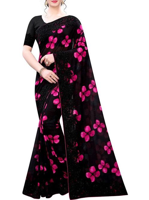 Divine Black Designer Sarees With Price