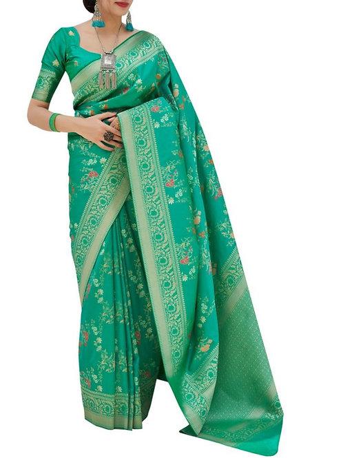 Great Light Green Indian Wedding Saree