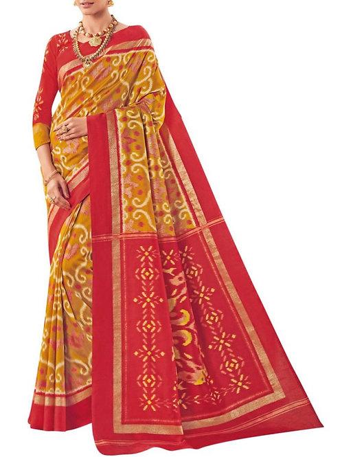 Exhilarant Yellow Bollywood Designer Sarees