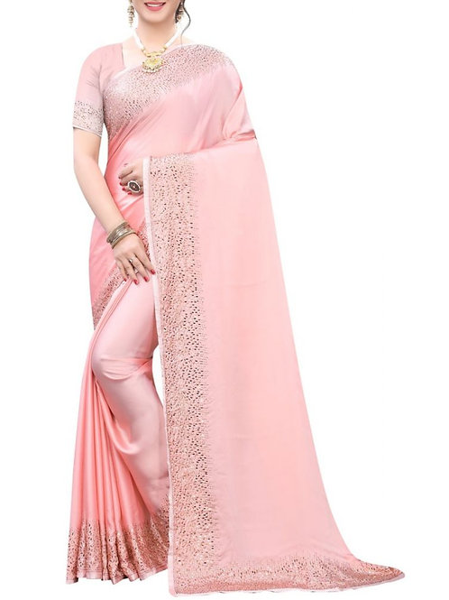 Fashionable Light Pink Sarees Online Shopping Low Price