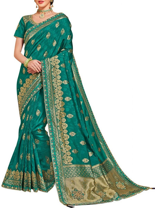 Extraordinary Green Saree Shopping