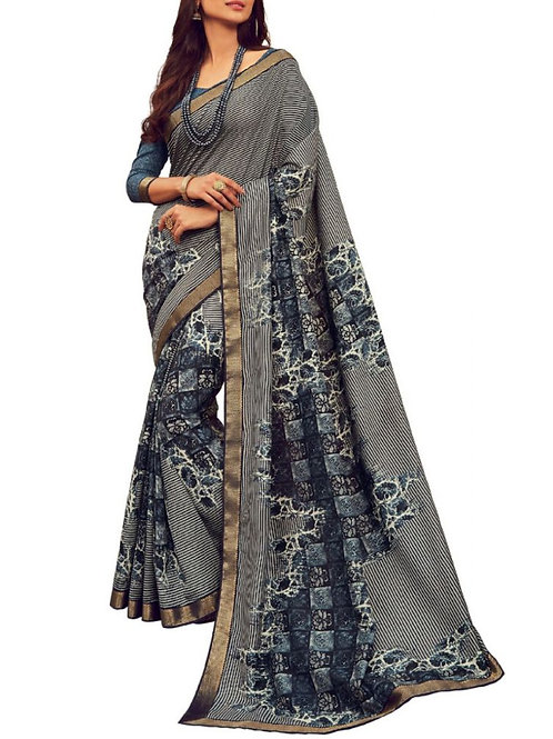 Magnetic Grey Saree With Price