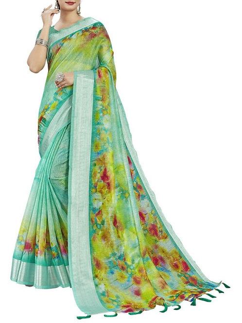 Cheery Sea Green Designer Sarees With Price