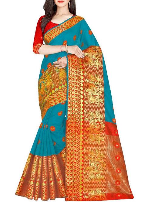 Extraordinary Rama Saree With Price