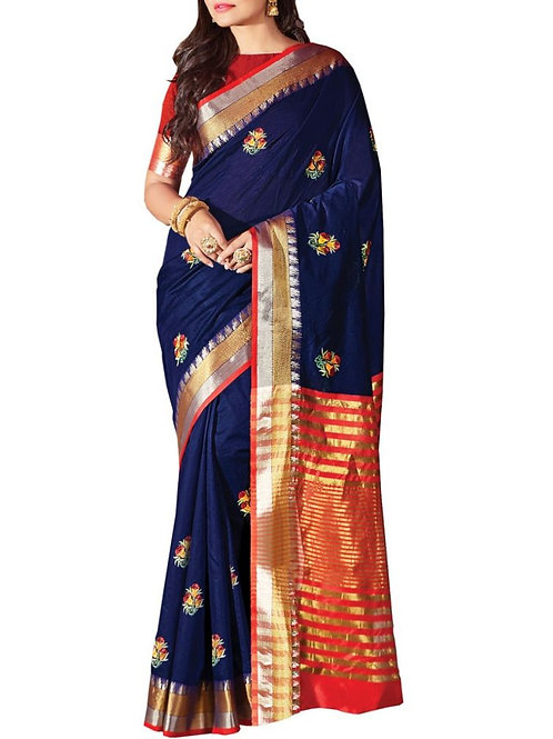Beautiful Blue Color Trendy Sarees Online Shopping