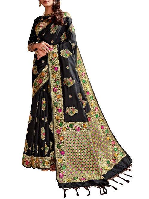 Delightful Black Best Saree