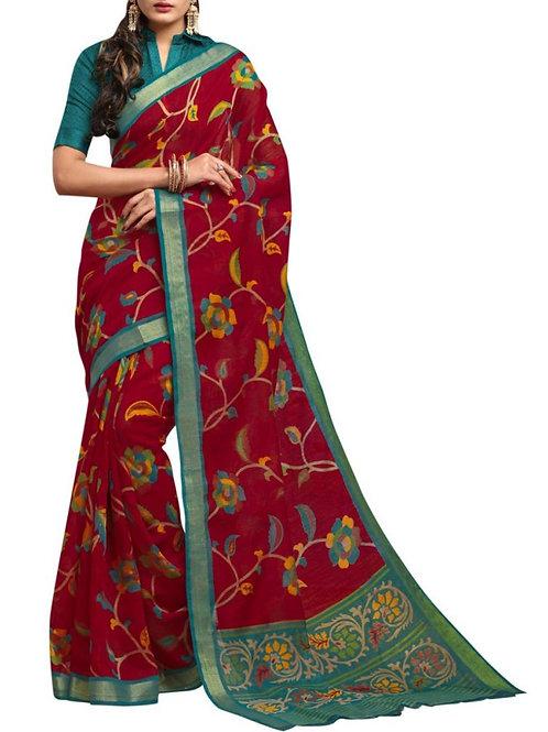Sensational Maroon Saree With Price