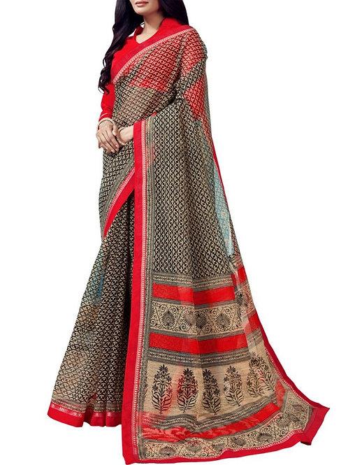 Exhilarant Black Color Stylish Saree Online
