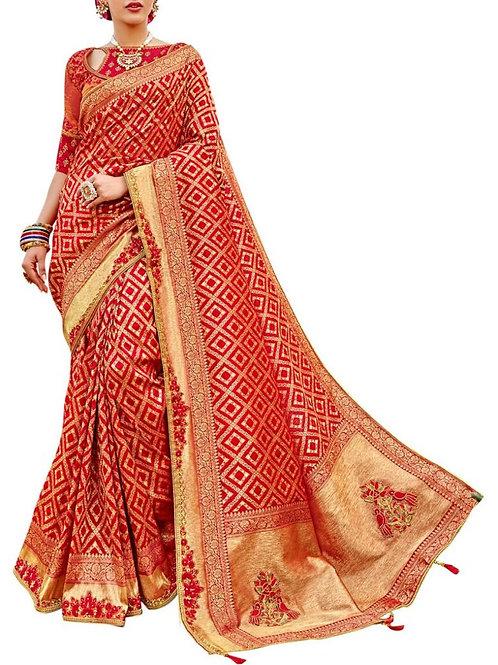 Dazzling Red Wedding Sarees