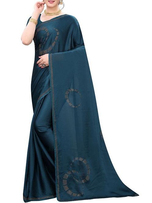 Pleasurable Turquoise Sarees