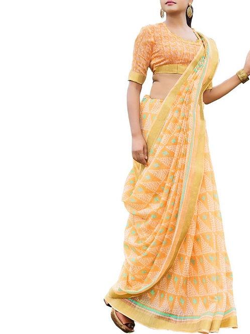 Confounding Light Orange Color Kanjeevaram Sarees Online