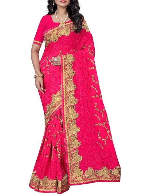 Dashing Pink Color Women Saree