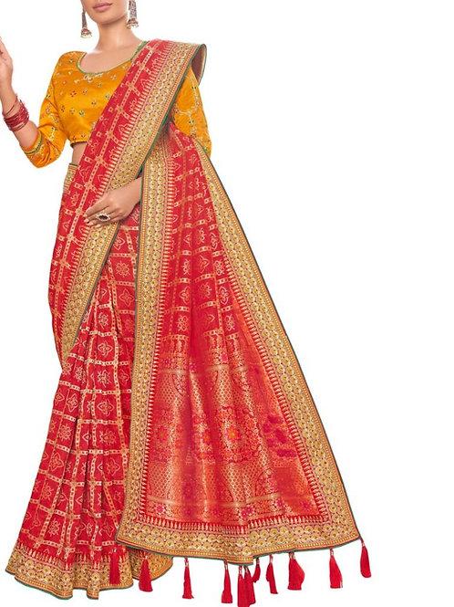 Heart-Stirring Red Saree Palace