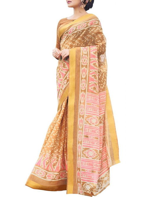 Effective Light Pink Color Women In Saree