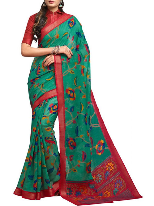 Divine Sea Green Designer Sarees Online