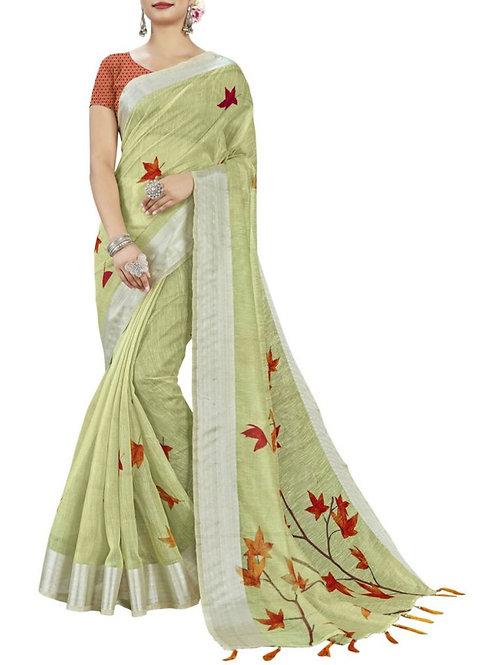 Captivating Pista Green Pavitraa Saree Sale