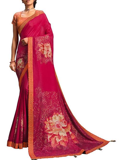 Breathtaking Pink Wedding Sarees Online