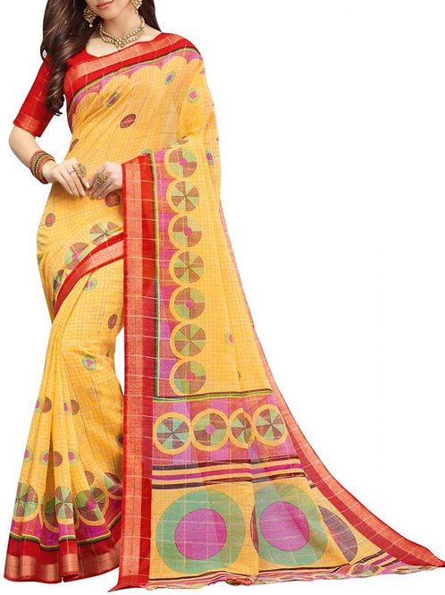 Remarkable Yellow Color New Fashion Saree