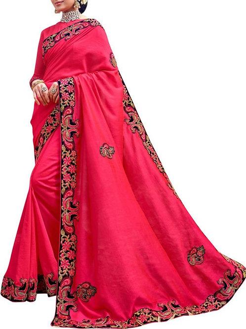 Divine Pink Color Designer Saree