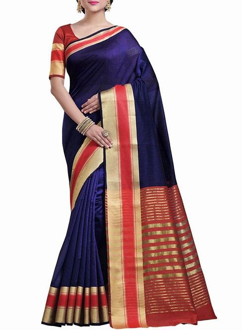 Graceful Dark Blue Color Indian Wear Saree