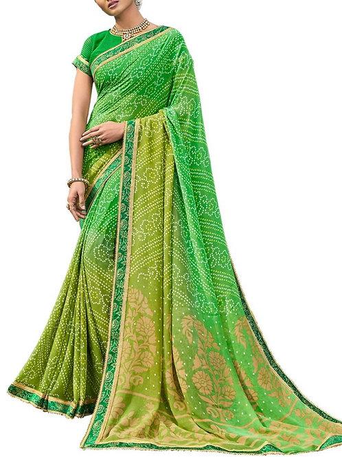 Breathtaking Green Color Women Saree