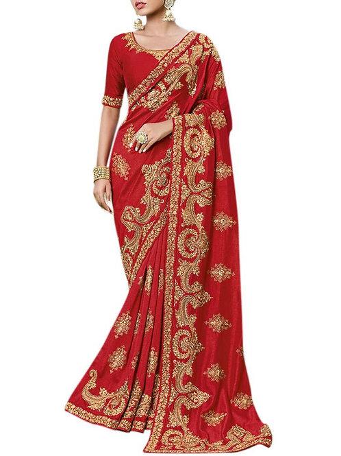 Astonishing Red Saree Blouse Designs