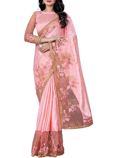 Cute Light Pink Indian Saree