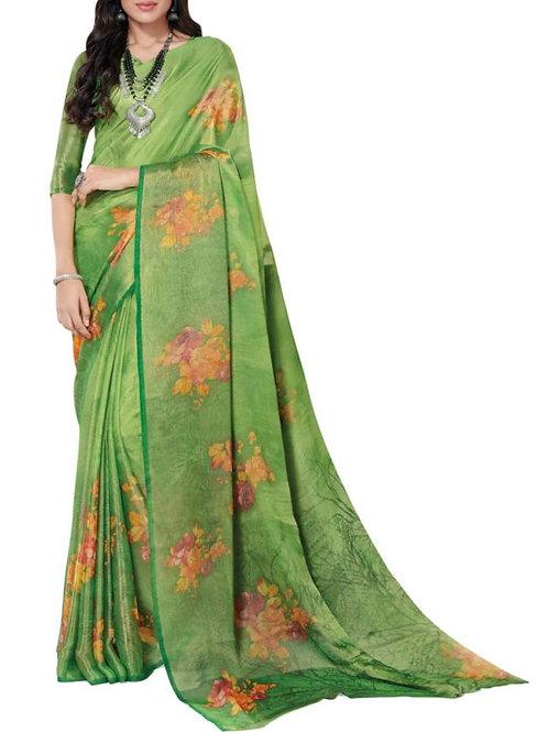 Astonishing Green Latest Saree Collection