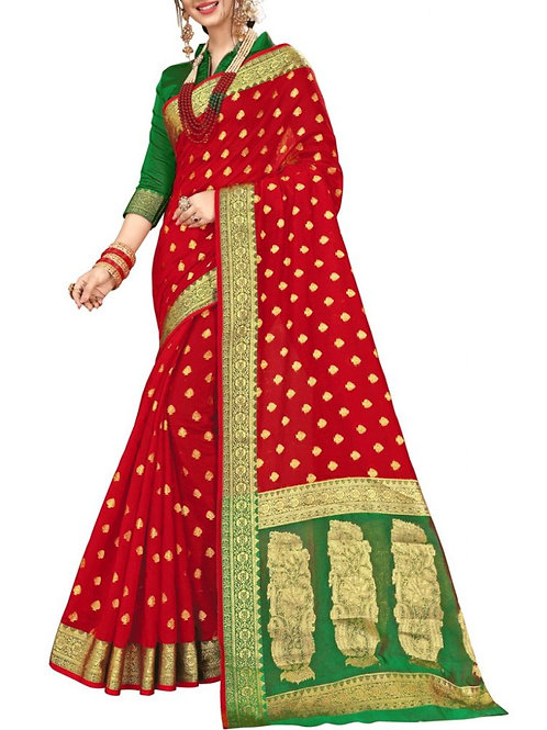 Lovely Red Color Women Saree