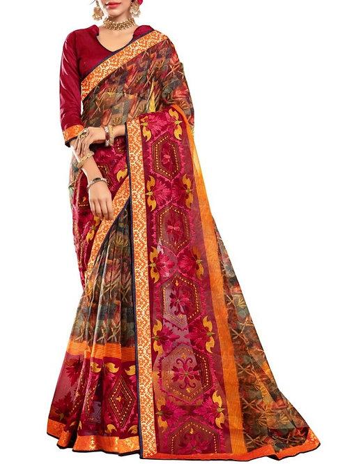 Excellent Multi Color Ladies Sarees Online Shopping