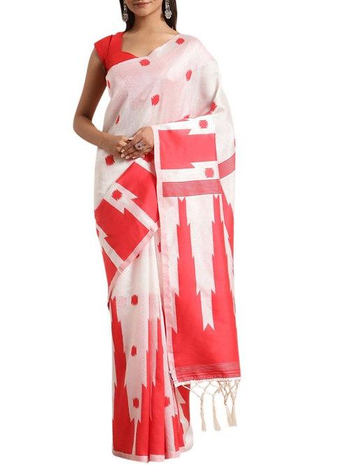 Beautiful White Best Designer Sarees