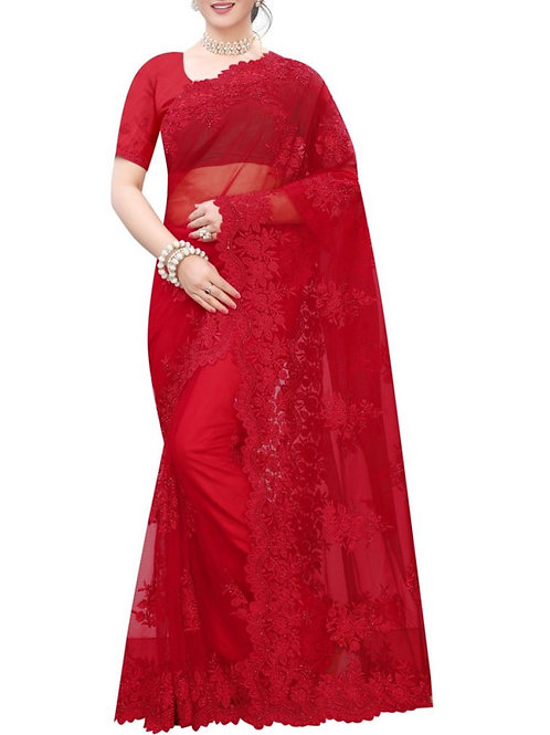 Eye-Popping Red New Saree Collection