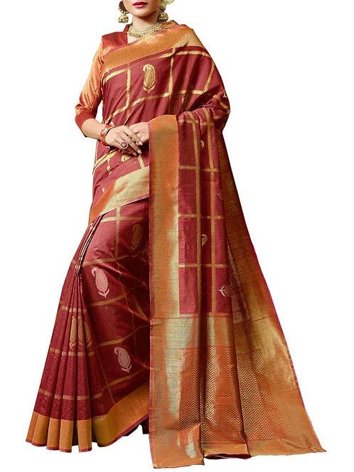 Gorgeous Maroon Color Buy Designer Sarees Online