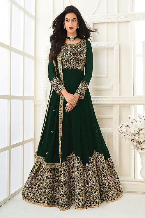 Amazing Green Color Gown