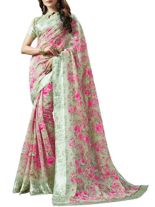 Pleasing Multi Color Women In Saree