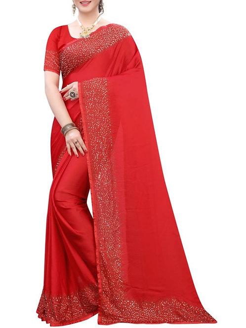 Fashionable Red Designer Sarees