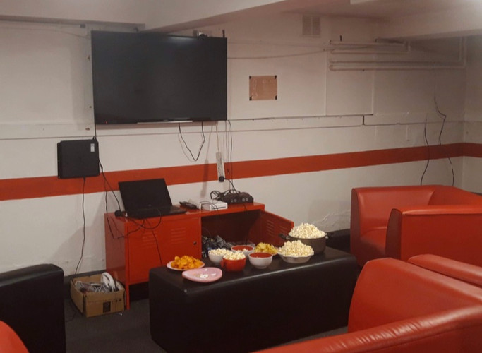 Movie nights in the TV room