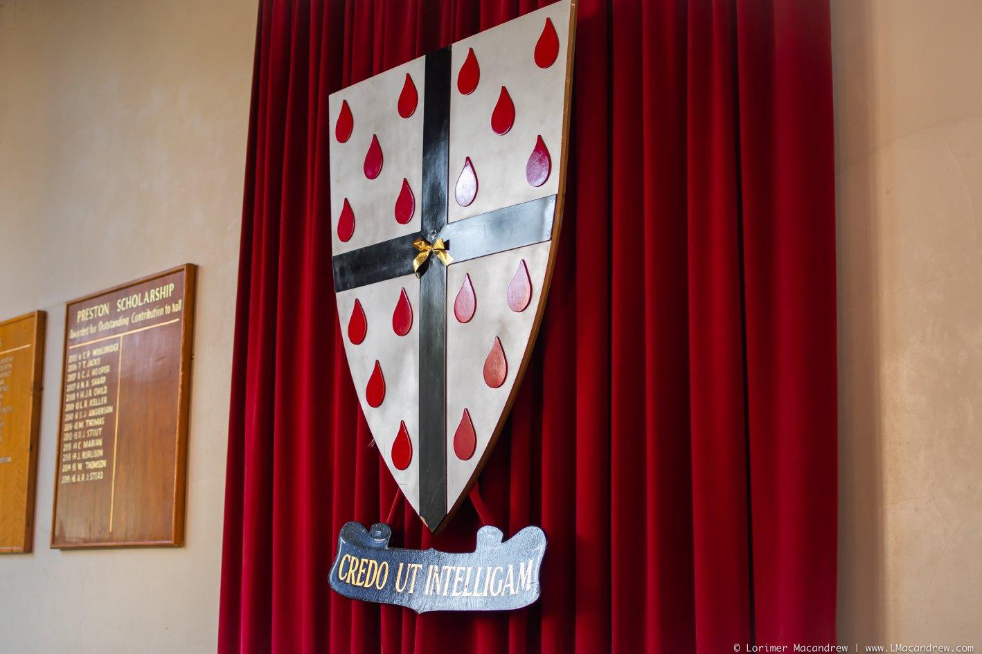 St Anselm Hall Crest