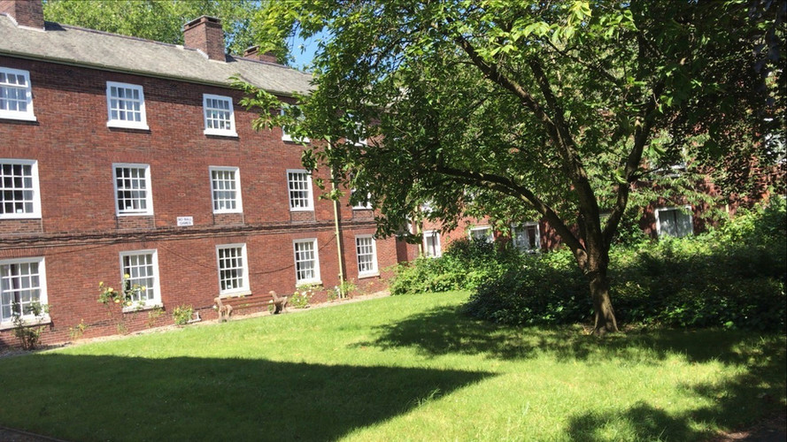 Courtyard during summer time