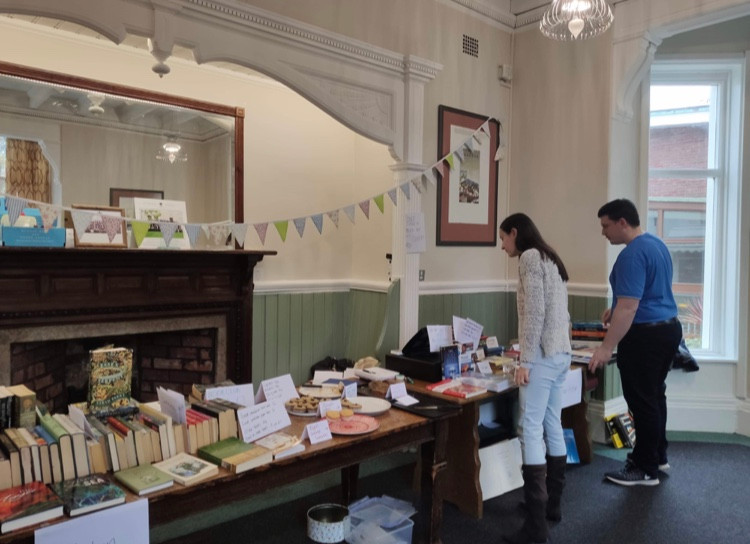 Book and cake sale
