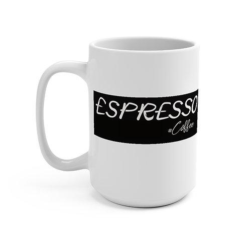 Espresso Coffee Mug 15oz, Coffee Mug, Coffee, Espresso Mug, Gift.