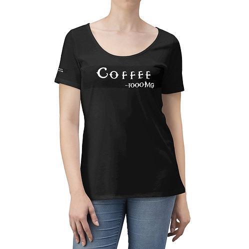 Women's Scoop Neck T-shirt, Coffee T shirt