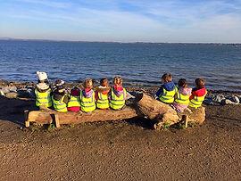 Little Bears Forest Preschool - exploring Lanstone Harbour