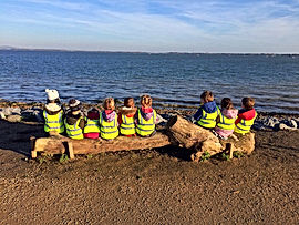 Little Bears Forest Preschool - exploring Lanstone Harbour