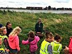 Little Bears Forest Preschool - Milton Locks - children listening to Jess Daish Miller, Hants & IoW Wildlife Trust