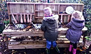 Little Bears Forest Preschool - mud kitchen