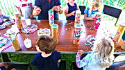 Little Bears Forest Preschool - Outdoors arts and crafts - making musical instruments