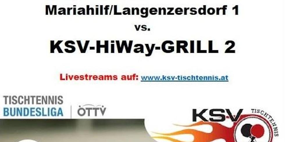 LIVESTREAM 2. BL Herren - SGML/1 vs. KSV/2 - TISCH 1